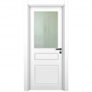ahşap kapı lake camlı